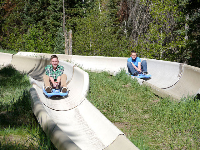 The Alpine Slide is located at Howelsen Hill in downtown Steamboat