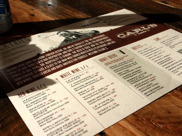 Carl's Tavern Menu
