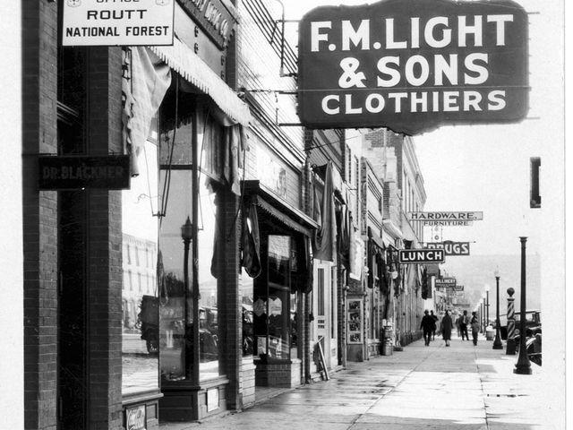 F.M. Light Street Scene