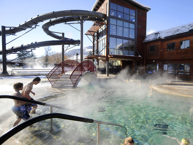 Old Town Hot Springs Winter