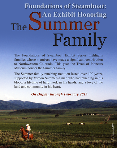 The Summer Faimily exhibit, on display through February 2015
