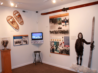 Exhibit inside the Tread of Pioneers